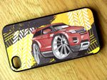 Koolart TYRE TRAX 4x4 Design For Range Rover Evoque Hard Case Cover Fits Apple iPhone 4 & 4s